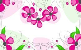 Fleurs roses, sur un fond blanc Photo libre de droits