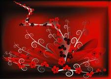 Fleurs rouges abstraites Photos stock