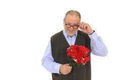 Fleurs rouges de roses d'homme Photos libres de droits