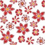 Fleurs rouges sur le fond blanc. Image libre de droits
