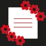 Fleurs rouges sur un fond noir - illustration Photos libres de droits