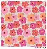 Fleurs sans couture Image stock
