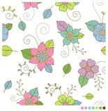 Fleurs sans couture Photos stock