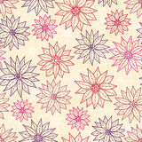 Fleurs sans joint de dessin de configuration. Images libres de droits