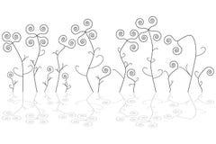 Fleurs spiralées Image libre de droits