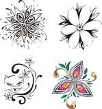 Fleurs stylisées Photos stock