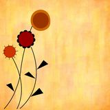 Fleurs stylisées d'automne Image stock