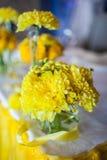 Fleurs sur la table photos stock
