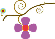 Fleurs sur le branchement Image stock