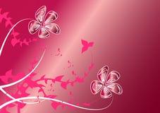 Fleurs sur le fond rose Photographie stock