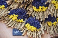 Fleurs sur le marché de la Provence, France Image libre de droits