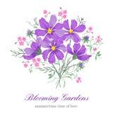 Fleurs sur un fond blanc illustration de vecteur