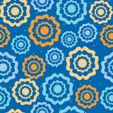 Fleurs sur un fond bleu Images libres de droits