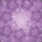 Fleurs sur un fond lilas Photos stock