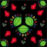 Fleurs sur un fond noir Photo libre de droits