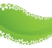 Fleurs sur un fond vert illustration de vecteur