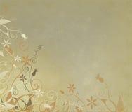 Fleurs sur un or minable Photo libre de droits