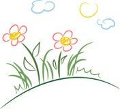 Fleurs sur une côte Photo stock