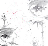 Fleurs tendres d'aquarelle Photo stock