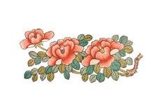 Fleurs Tiré par la main Image libre de droits