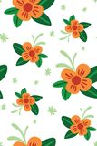 Fleurs tropicales oranges illustration stock