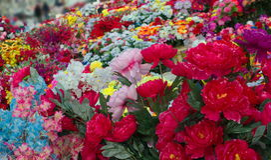 Fleurs truquées Photos stock