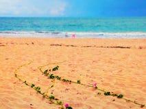 Fleurs vers l'océan Photographie stock