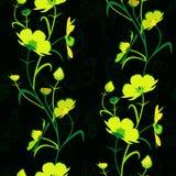 Fleurs vert jaunâtre Photos libres de droits