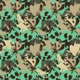 Fleurs vertes et beiges abstraites comme le motif animal de l?opard illustration libre de droits