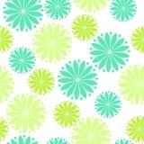Fleurs vertes et bleues Photo libre de droits