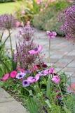 Fleurs victoriennes de jardin de cottage de pays image libre de droits