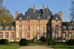 Fleury Ла Foret, Франция - 15-ое марта 2016: замок Стоковые Изображения RF