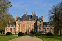 Fleury Ла Foret, Франция - 15-ое марта 2016: замок Стоковая Фотография RF