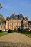 Fleury Ла Foret, Франция - 15-ое марта 2016: замок Стоковые Фотографии RF