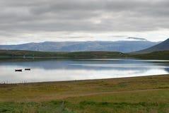 Fleuve à Akureyri en Islande Photographie stock libre de droits