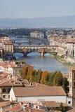 Fleuve Arno de Florence Image stock