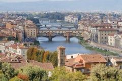 Fleuve Arno de Florence Image libre de droits