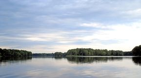 Fleuve calme au Maine Photos libres de droits