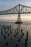 Fleuve Columbia, Astoria, Orégon Images libres de droits