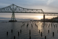 Fleuve Columbia, Astoria, Orégon Photographie stock libre de droits