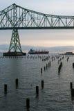 Fleuve Columbia, Astoria, Orégon Images stock