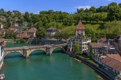 Fleuve d'Aare, Berne Photo libre de droits