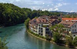 Fleuve d'Aare, Berne Image stock