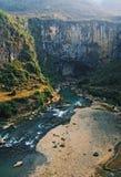 fleuve d'anhe au fond Image libre de droits