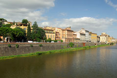 Fleuve d'Arno, Florence, Italie Images stock