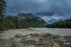Fleuve d'Athabasca Photo libre de droits