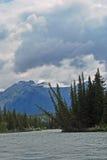 Fleuve d'Athabasca, jaspe, Canada Photo libre de droits