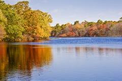fleuve d'automne Photographie stock