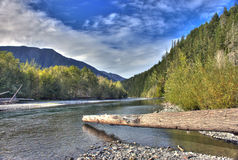 Fleuve d'Elwha Photo stock