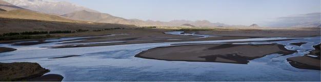 fleuve d'horizontal Photos libres de droits